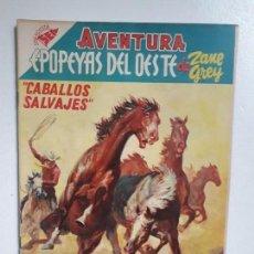 Tebeos: AVENTURA N° 41 - CABALLOS SALVAJES! - ORIGINAL EDITORIAL NOVARO. Lote 151237050