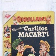 Tebeos: CHIQUILLADAS Nº 27 - CARLITOS Y MACARTI - SEA 1954. Lote 151325918