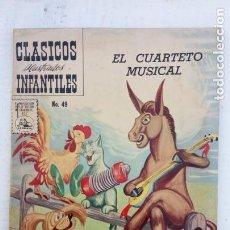 Tebeos: CLASICOS ILUSTRADOS Nº 49 - 1959 - EL CUARTETO MUSICAL - LOS MÚSICOS DE BREMEN - EXCELENTE. Lote 151327742