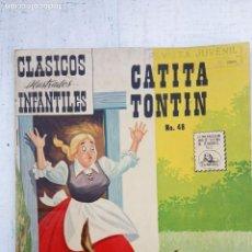 Tebeos: CLASICOS ILUSTRADOS Nº 48 - 1959CATITA TONTIN - MUY NUEVO. Lote 151327850
