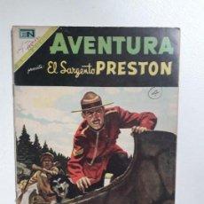 Tebeos: AVENTURA N° 587 - EL SARGENTO PRESTON - ORIGINAL EDITORIAL NOVARO. Lote 151365202