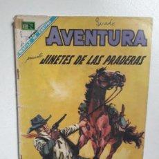 Tebeos: AVENTURA N° 524 - JINETES DE LAS PRADERAS - ORIGINAL EDITORIAL NOVARO. Lote 151479782