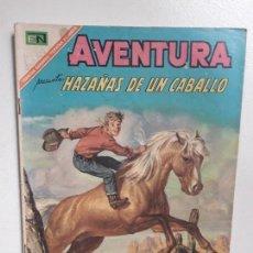 Tebeos: AVENTURA N° 499 - HAZAÑAS DE UN CABALLO - ORIGINAL EDITORIAL NOVARO. Lote 151481558