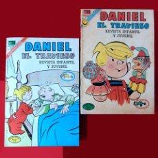 BDs: DANIEL EL TRAVIESO, EDITORIAL NOVARO, LOTE; Nº: 96 Y 100 (1972), ORIGINALES. Lote 152737706