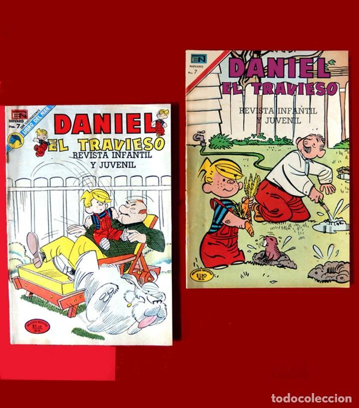 DANIEL EL TRAVIESO, - LOTE DOS COMICS; Nº: 68 (1970) Y 133 (1973) - EDITORIAL NOVARO - ORIGINALES. (Tebeos y Comics - Novaro - Otros)