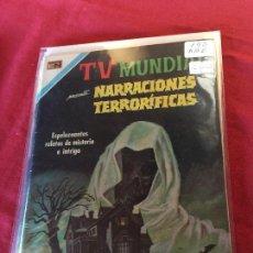 Tebeos: NOVARO TV MUNDIAL NARRACIONES TERRORIFICAS NUMERO 190 BUEN ESTADO. Lote 153085302