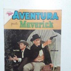Tebeos: AVENTURA N° 255 - MAVERICK - ORIGINAL EDITORIAL NOVARO. Lote 153433146