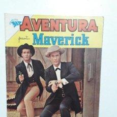 Tebeos: AVENTURA N° 218 - MAVERICK - ORIGINAL EDITORIAL NOVARO. Lote 153433486