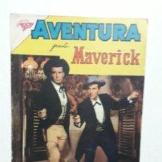 Tebeos: AVENTURA N° 196 - MAVERICK - ORIGINAL EDITORIAL NOVARO. Lote 153433566