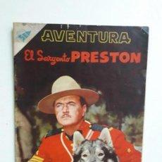 Tebeos: AVENTURA N° 72 - EL SARGENTO PRESTON - ORIGINAL EDITORIAL NOVARO. Lote 153526138
