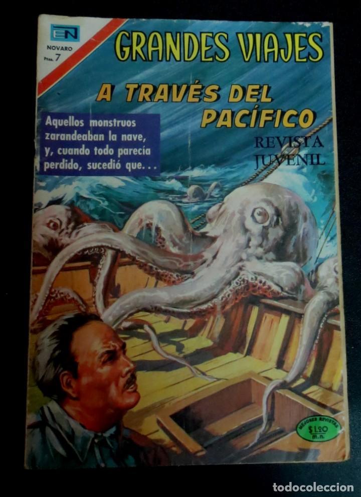GRANDES VIAJES A TRAVÉS DEL PACÍFICO AÑO VIII Nº 95 1 DICIEMBRE 1970 26X18 CM. (Tebeos y Comics - Novaro - Grandes Viajes)