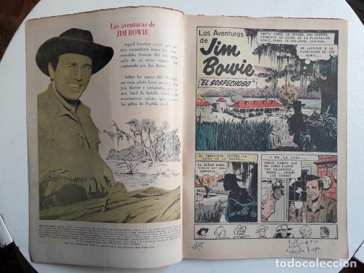Tebeos: Domingos alegres n° 348 - Jim Bowie - original editorial Novaro - Foto 2 - 153718606