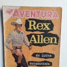 Tebeos: AVENTURA N° 105 - REX ALLEN - ORIGINAL EDITORIAL NOVARO. Lote 153800326