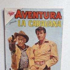 Tebeos: AVENTURA N° 198 - LA CARAVANA - ORIGINAL EDITORIAL NOVARO. Lote 153802894