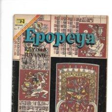 Tebeos: EPOPEYA, EL IMPERIO MAYA, Nº 129. AÑO 1969. EDITORIAL NOVARO, S. A. Lote 153910158