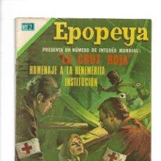 Tebeos: EPOPEYA, LA CRUZ ROJA, Nº 184. AÑO 1971. EDITORIAL NOVARO, S. A.. Lote 153910862