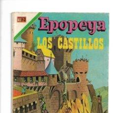 Tebeos: EPOPEYA, LOS CASTILLOS, Nº 185. AÑO 1971. EDITORIAL NOVARO, S. A.. Lote 153911566