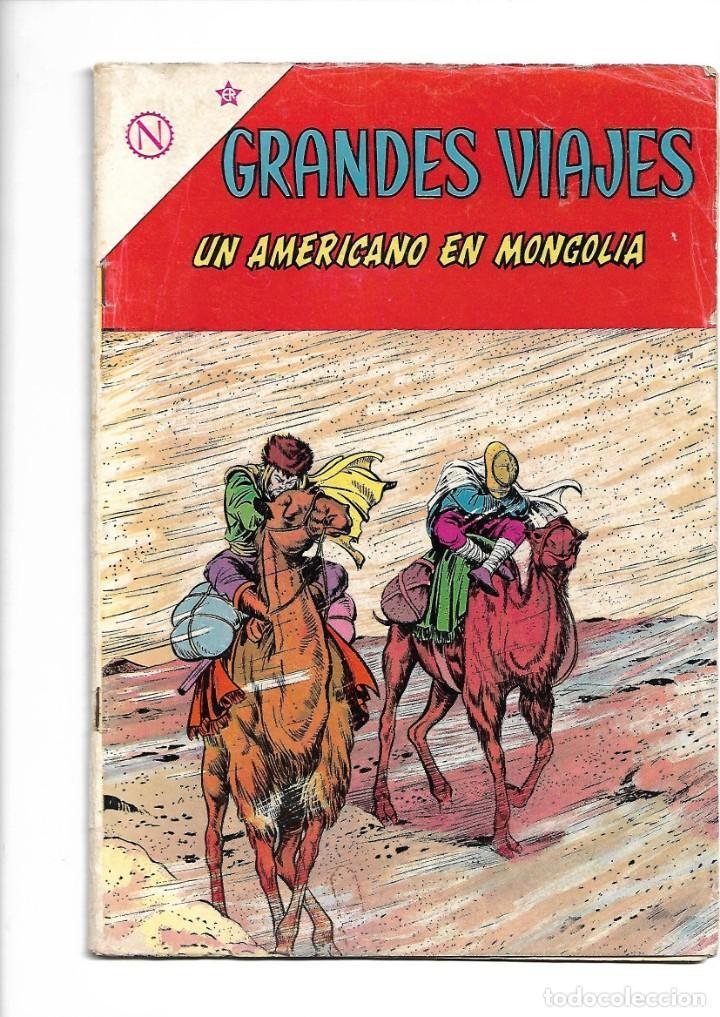 GRANDES VIAJES, UN AMERICANO EN MONGOLIA, Nº 12. AÑO 1964. EDITORIAL ER. (Tebeos y Comics - Novaro - Grandes Viajes)
