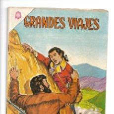 Tebeos: GRANDES VIAJES, LA CONDAMINE EN LA AMERICA DEL SUR, Nº 21. AÑO 1964. EDITORIAL NOVARO.. Lote 154225634