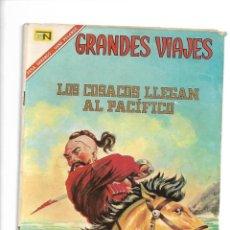 Tebeos: GRANDES VIAJES, LOS COSACOS LLEGAN AL PACÍFICO, Nº 49. AÑO 1967. EDITORIAL NOVARO, S. A.. Lote 154227502