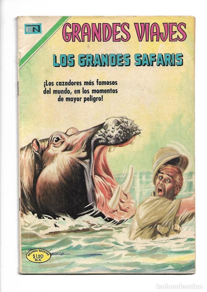 GRANDES VIAJES, LOS GRANDES SAFARIS, Nº 86. AÑO 1970. EDITORIAL NOVARO, S. A. (Comics und Tebeos - Novaro - Grandes Viajes)