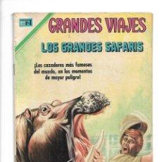 Tebeos: GRANDES VIAJES, LOS GRANDES SAFARIS, Nº 86. AÑO 1970. EDITORIAL NOVARO, S. A.. Lote 154228422