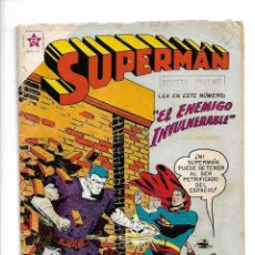 Tebeos: SUPERMÁN, EL ENEMIGO INVULNERABLE, Nº 163. AÑO 1958. EDITORIAL ER.. Lote 154261670