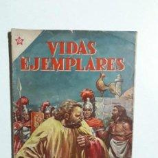 Tebeos: VIDAS EJEMPLARES N° 105 - ORIGINAL EDITORIAL NOVARO. Lote 154892378