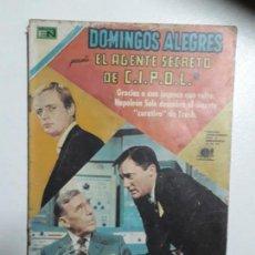 Tebeos: DOMINGOS ALEGRES N° 847 - EL AGENTE SECRETO DE C.I.P.O.L. - ORIGINAL EDITORIAL NOVARO. Lote 155344678