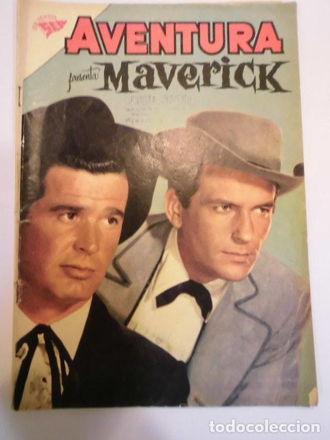 COLECCIÓN AVENTURA - NUM 174 – MAVERICK - NOVARO 1961 (Tebeos y Comics - Novaro - Aventura)