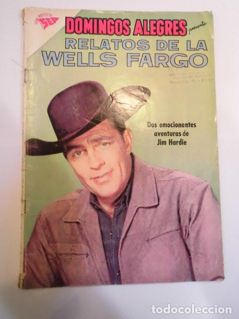 COLECCIÓN DOMINGOS ALEGRES - NUM 386 – RELATOS DE LA WELLS FARGO - NOVARO - 1961 (Tebeos y Comics - Novaro - Domingos Alegres)