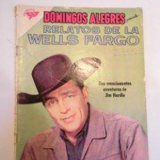 Tebeos: COLECCIÓN DOMINGOS ALEGRES - NUM 386 – RELATOS DE LA WELLS FARGO - NOVARO - 1961. Lote 155506934