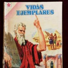 Tebeos: NOVARO VIDAS EJEMPLARES MOISES Y LOS DIEZ MANDAMIENTOS 80 PAGINAS. Lote 155629438