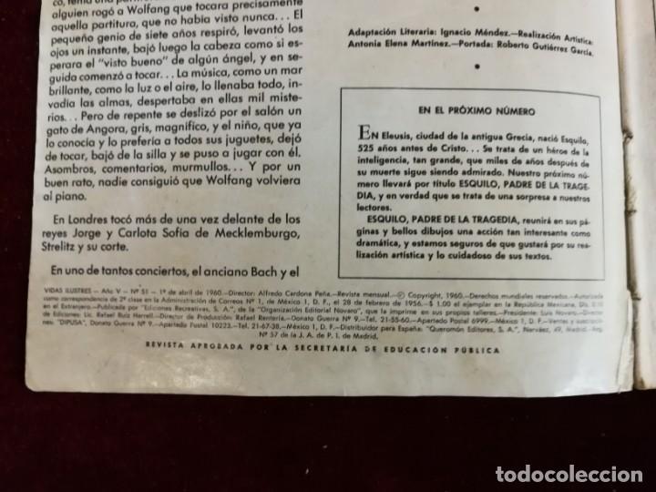 Tebeos: Novaro Vidas Ilustres nº 51 Mozart El niño Prodigio - Foto 2 - 155650802