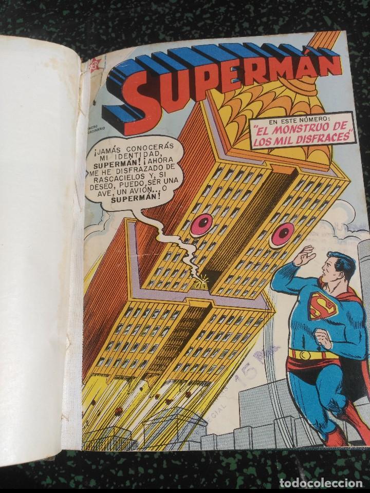 SUPERMÁN TOMO CON 4 NÚMEROS EXTRAORDINARIOS DIFÍCILES NOVARO (Tebeos y Comics - Novaro - Superman)