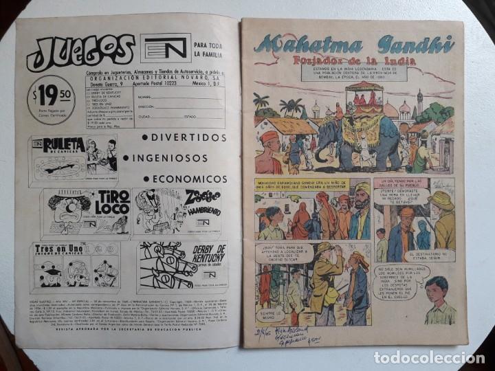 Tebeos: Vidas ilustres n° especial (Mahatma Gandhi) - original editorial Novaro - Foto 2 - 155890294