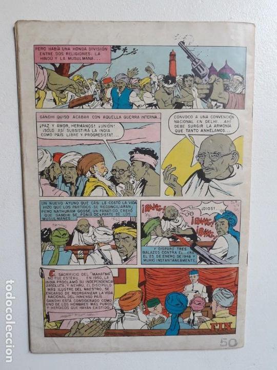 Tebeos: Vidas ilustres n° especial (Mahatma Gandhi) - original editorial Novaro - Foto 3 - 155890294