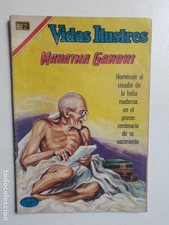 VIDAS ILUSTRES N° ESPECIAL (MAHATMA GANDHI) - ORIGINAL EDITORIAL NOVARO (Tebeos y Comics - Novaro - Vidas ilustres)