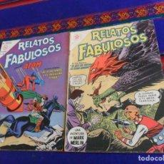 Tebeos: RELATOS FABULOSOS Nº 27 CON MARK MERLIN Y 55 CON ÁTOM. NOVARO 1960. MUY RAROS.. Lote 156793578