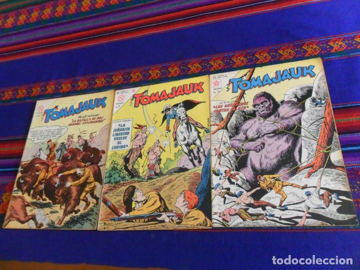 MUY BUEN ESTADO, TOMAJAUK NºS 98, 102 Y 104. NOVARO 1963. 5 PTS. DIFÍCILES. (Tebeos y Comics - Novaro - Otros)