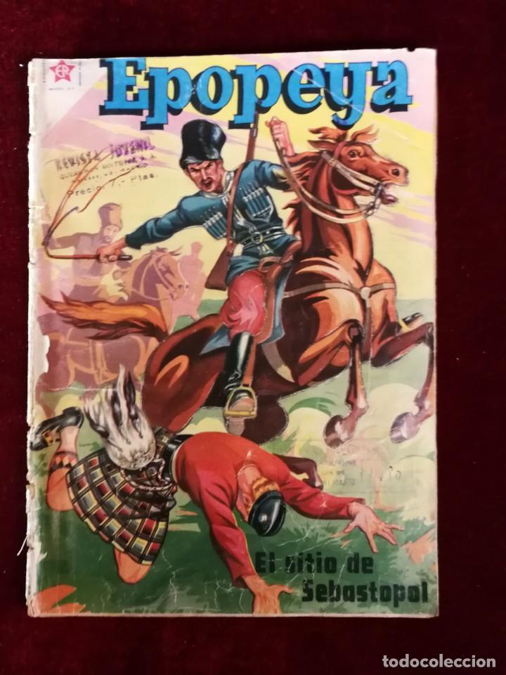 NOVARO EDICIONES RECREATIVAS EPOPEYA Nº 11 EL SITIO DE SEBASTOPOL (Tebeos y Comics - Novaro - Epopeya)