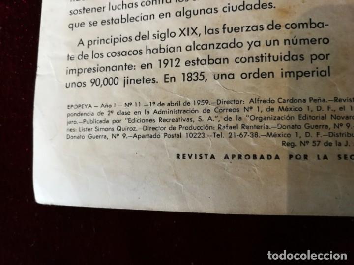 Tebeos: Novaro Ediciones Recreativas Epopeya nº 11 El sitio de sebastopol - Foto 2 - 156827898