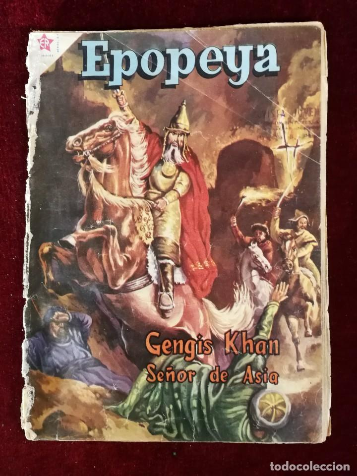 NOVARO EDICIONES RECREATIVAS EPOPEYA Nº 23 GENGIS KHAN SEÑOR DE ASIA (Tebeos y Comics - Novaro - Epopeya)