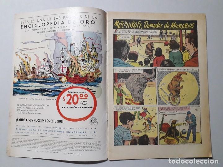 Tebeos: Vidas ilustres n° 94 - Metchnikoff, domador de microbios - original editorial Novaro - Foto 2 - 158221622