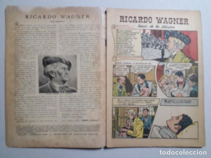 Tebeos: Vidas Ilustres n° 7 - Ricardo Wagner - original editorial Novaro - Foto 2 - 158221954