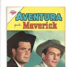 Tebeos: AVENTURA MAVERICK, Nº 207. AÑO 1961, ESTE TEBEO ESTA MUY NUEVO Y ES DIFICIL ES UNA REVISTA SEA.. Lote 159263730