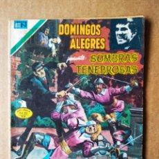 Tebeos: DOMINGOS ALEGRES PRESENTA: SOMBRAS TENEBROSAS N°2-1312 (EDITORIAL NOVARO, 1979). SERIE ÁGUILA.. Lote 159746929