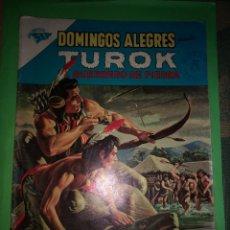 Tebeos: DOMINGOS ALEGRES 485 TUROK, EL GUERRERO DE PIEDRA, 1963, NOVARO. Lote 215357380