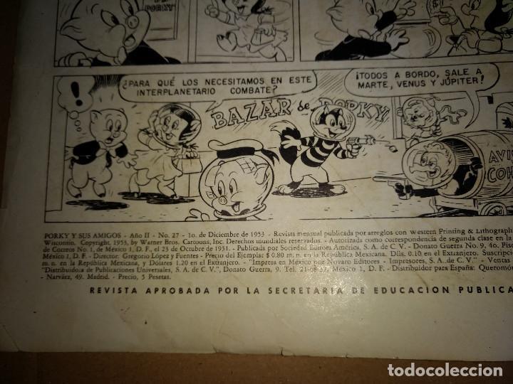Tebeos: PORKY Y SUS AMIGOS AÑO II Nº 27 1953, Novaro - Foto 2 - 160172822