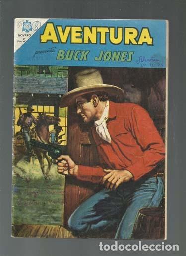 AVENTURA 354: BUCK JONES, 1964, NOVARO, BUEN ESTADO. COLECCIÓN A.T. (Tebeos y Comics - Novaro - Aventura)